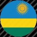 flag of rwanda, rwanda, rwanda's circled flag, rwanda's flag icon