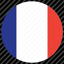 flag of reunion, reunion, reunion's circled flag, reunion's flag icon