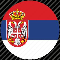 flag of serbia, serbia, serbia's circled flag, serbia's flag icon
