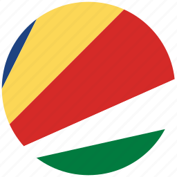 flag of seychelles, seychelles, seychelles's circled flag, seychelles's flag icon