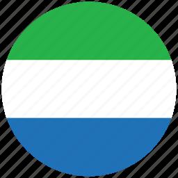 flag of sierra leone, sierra leone, sierra leone's circled flag, sierra leone's flag icon