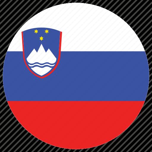 flag of slovenia, slovenia, slovenia's circled flag, slovenia's flag icon