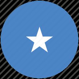 flag of somalia, somalia, somalia's circled flag, somalia's flag icon