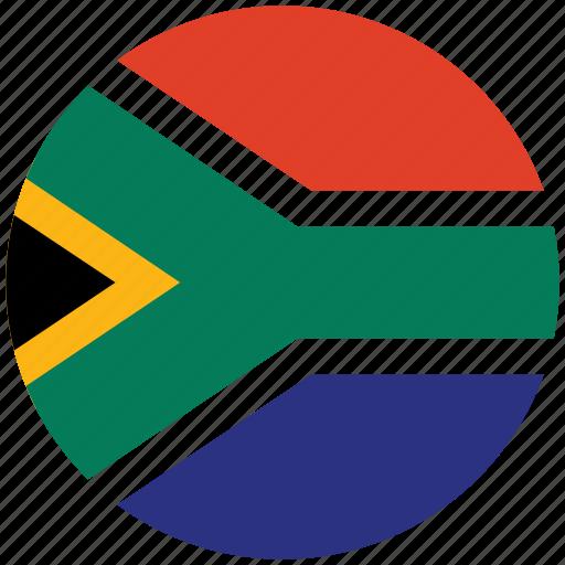flag of south africa, south africa, south africa's circled flag, south africa's flag icon