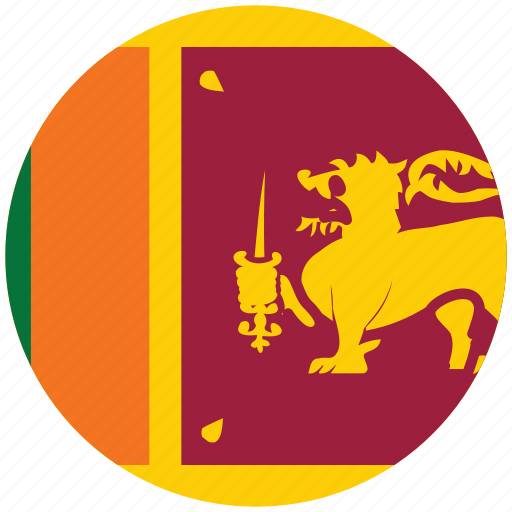 flag of sri lanka, sri lanka, sri lanka's circled flag, sri lanka's flag icon
