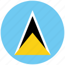 flag of st lucia, st lucia, st lucia's circled flag, st lucia's flag icon