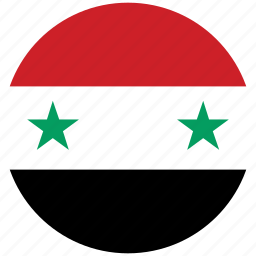flag of syria, syria, syria's circled flag, syria's flag icon
