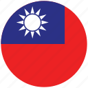 flag of taiwan, taiwan, taiwan's circled flag, taiwan's flag icon