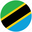 flag of tanzania, tanzania, tanzania's circled flag, tanzania's flag icon