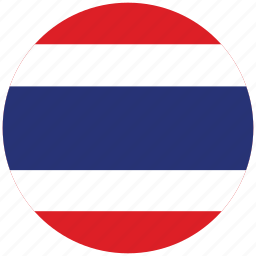flag of thailand, thailand, thailand's circled flag, thailand's flag icon
