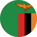flag of zambia, zambia, zambia's circled flag, zambia's flag icon