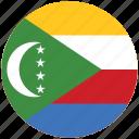flag of the comoro, the comoro, the comoro's circled flag, the comoro's flag icon