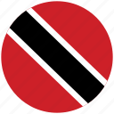 flag of trinidad, trinidad, trinidad's circled flag, trinidad's flag icon