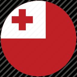 flag of tonga, tonga, tonga's circled flag, tonga's flag icon