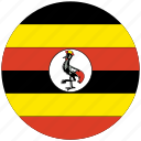 flag of uganda, uganda, uganda's circled flag, uganda's flag icon