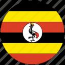 flag of uganda, uganda, uganda's circled flag, uganda's flag icon