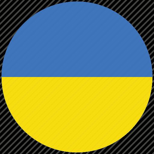 flag of ukraine, ukraine, ukraine's circled flag, ukraine's flag icon