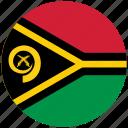 flag of vanuatu, vanuatu, vanuatu's circled flag, vanuatu's flag icon