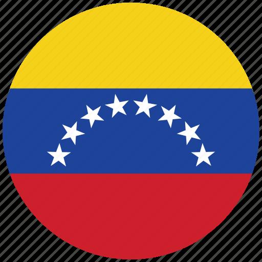 flag of venezuela, venezuela, venezuela's circled flag, venezuela's flag icon