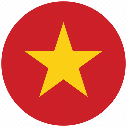 flag of vietnam, vietnam, vietnam's circled flag, vietnam's flag icon
