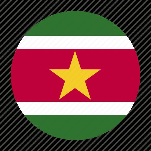 country, flag, south, sur, suriname, surinamese icon