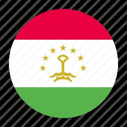 asia, asian, country, flag, tajikistan, tajikistani, tjk icon