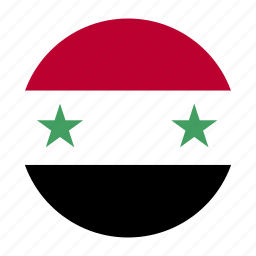country, east, flag, middle, syr, syria icon