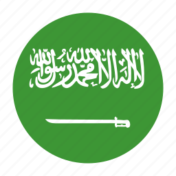 arabia, arabin, country, flag, sau, saudi, saudia icon