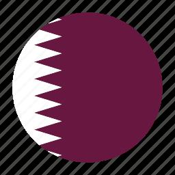 country, doha, flag, qat, qatar, qatari icon