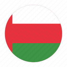 country, flag, muscat, oman, omani, omn icon