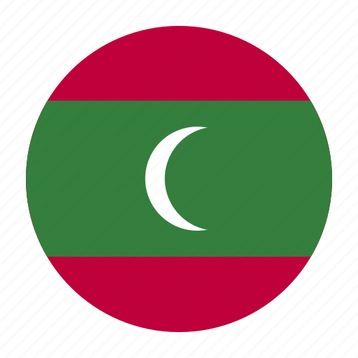 asia, asian, country, flag, maldives, maldivian, mdv icon