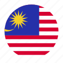 asia, asian, country, flag, malaysia, malaysian, mys icon