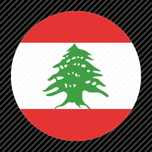 country, flag, lbn, lebanese, lebanon icon