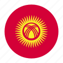 asia, asian, country, flag, kgz, kyrgyzstan, kyrgyzstani icon