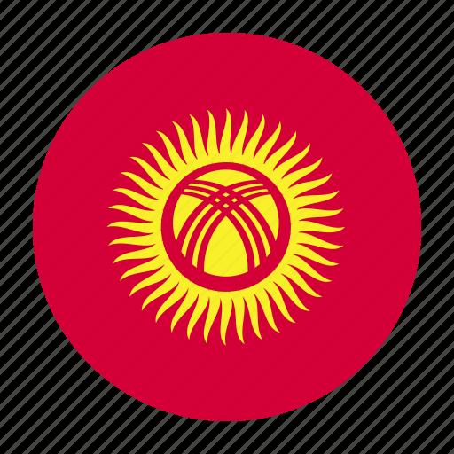 asia, asian, country, flag, kgz, kyrgyzstan, kyrgyzstani icon