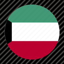 country, flag, kuwait, kuwaiti, kwt icon