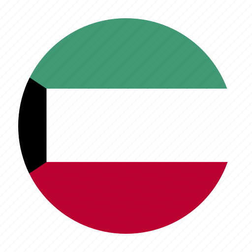 country, flag, kuwait, kuwaiti, kwt icon