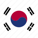 country, flag, kor, korea, korean, south, south korea icon