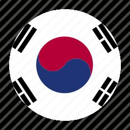 country, flag, kor, korea, korean, south, south korea icon