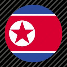 country, flag, korea, korean, north, north korea, prk icon