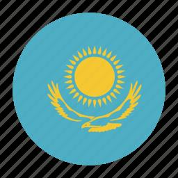asia, asian, country, flag, kaz, kazakhstan, kazakhstani icon