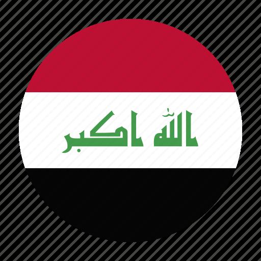country, flag, iraq, iraqi, irq icon