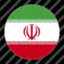 country, flag, iran, iranian, irn icon
