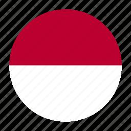 country, europe, flag, mco, monaco icon