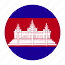 asia, asian, cambodia, cambodian, khm icon