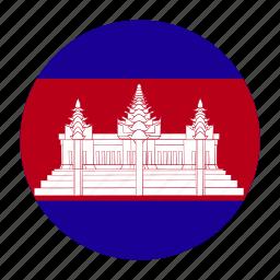 asia, asian, cambodia, cambodian, khm icon