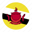 asia, asiancountry, brunei, darussalam, flag