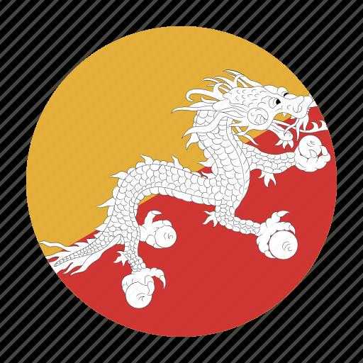 asia, asiancountry, bhutan, bhutanese, btn, flag, ngultrum icon