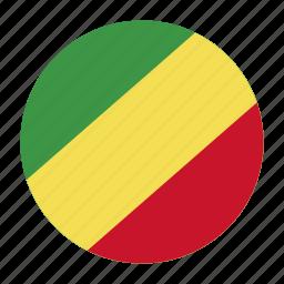african, cfa, cogcountry, congo, flag, republic icon
