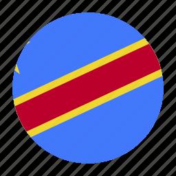 codcountry, congo, congolese, democratic, flag, republic icon